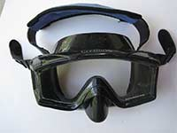 Tempered Glass, Black Silicone Scuba Mask